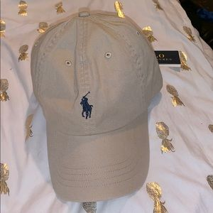 TAN AND BLUE BRAND NEW POLO HAT